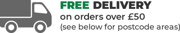 Free Delivery on orders over £50 (applicable postcodes only)